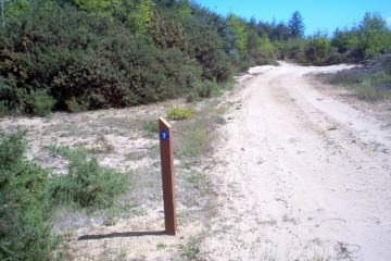 The new trail is an access road behind the new private golf course.