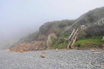 Landslide off bluff on north end of beach