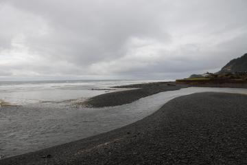 Tenmile Creek serpentine outflow into the ocean-taken 3/23/2019