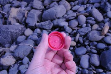 Bottle cap with Portola written in it